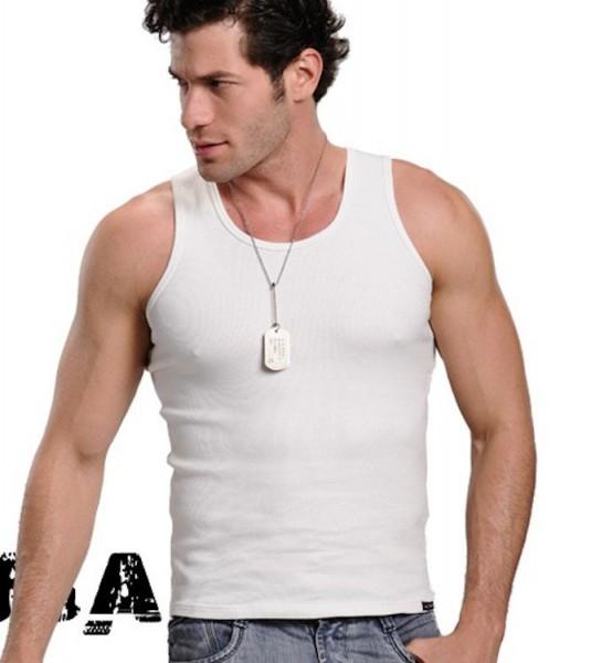 Xuba Tank Top für Herren Baumwolle in weiß
