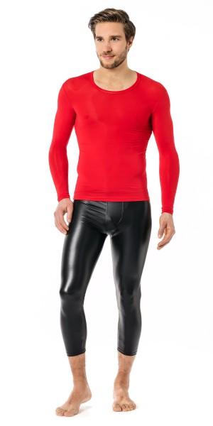 Manview Herren Shirt 1/1 Arm transparent rot