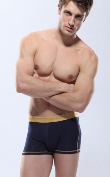Boxer Shorts Herren dunkelblau Modal