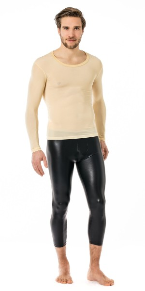 Manview Herren Shirt 1/1 Arm transparent skin