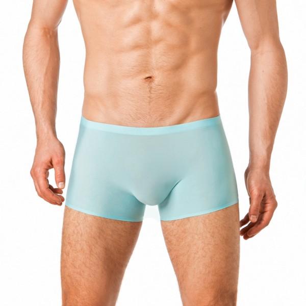 Manview transparente seamless Shorts Herren hellblau