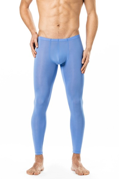 Manview transparente lange Herren Hose blau