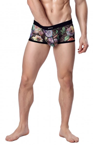 Manview Herren Boxer Short transparent - schwarz