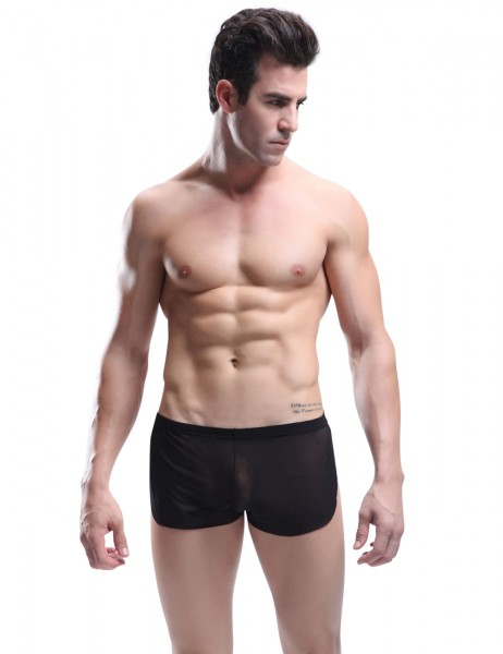 Manview Herren Running Short transparent schwarz