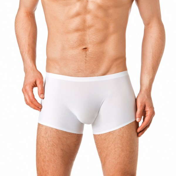 Manview transparente seamless Shorts Herren weiss