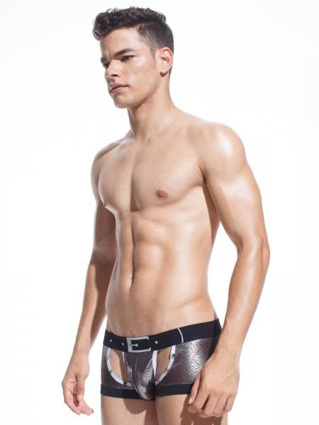 Xuba Herren Shorts Viskose Metallic bronze metallic Nieten