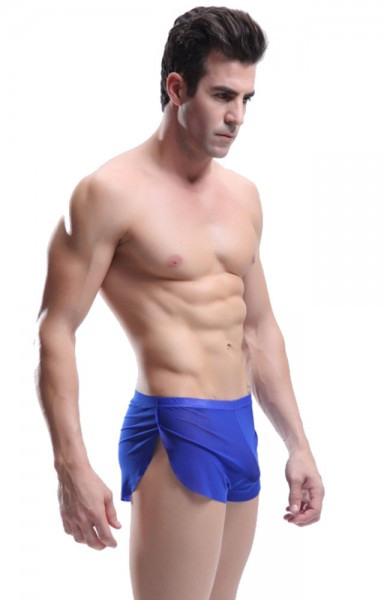 Manview Herren Running Short transparent blau