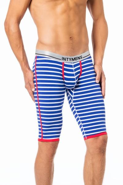 Men Body 3/4 lange Unterhose blau/weiss gestreift