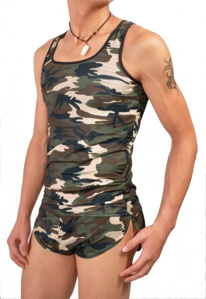 Manview Herren Shirt ohne Arm camouflage - Herrenunterhemd MV02-1A-350