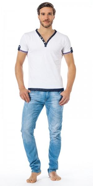 Xuba Shirt für Herren 1/2 Arm Baumwolle in weiss