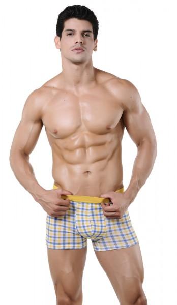 Xuba karo Shorts Herren Baumwolle in gelb